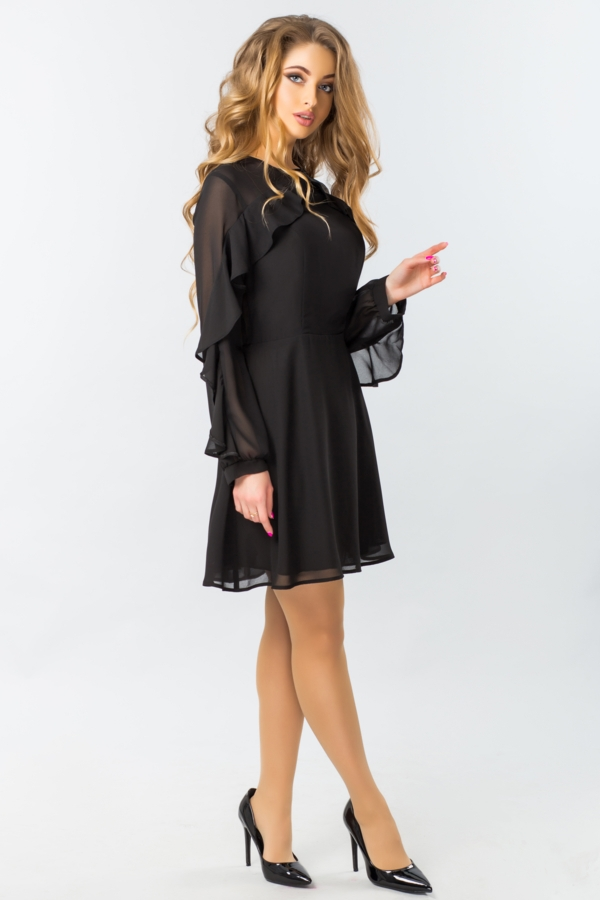 black-chiffon-dress-with-ruffles-half