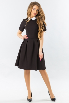 black-dress-with-white-round-collar-and-warehouses