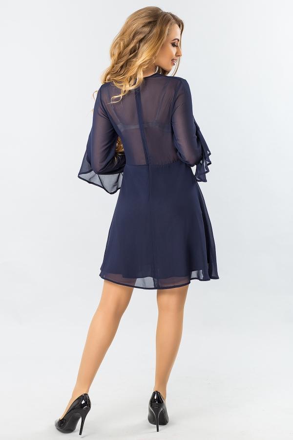 dark-blue-chiffon-dress-with-2-ruffles-back