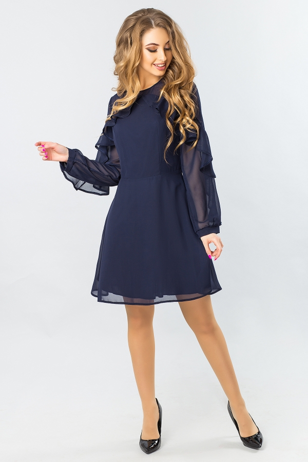 dark-blue-chiffon-dress-with-2-ruffles-full