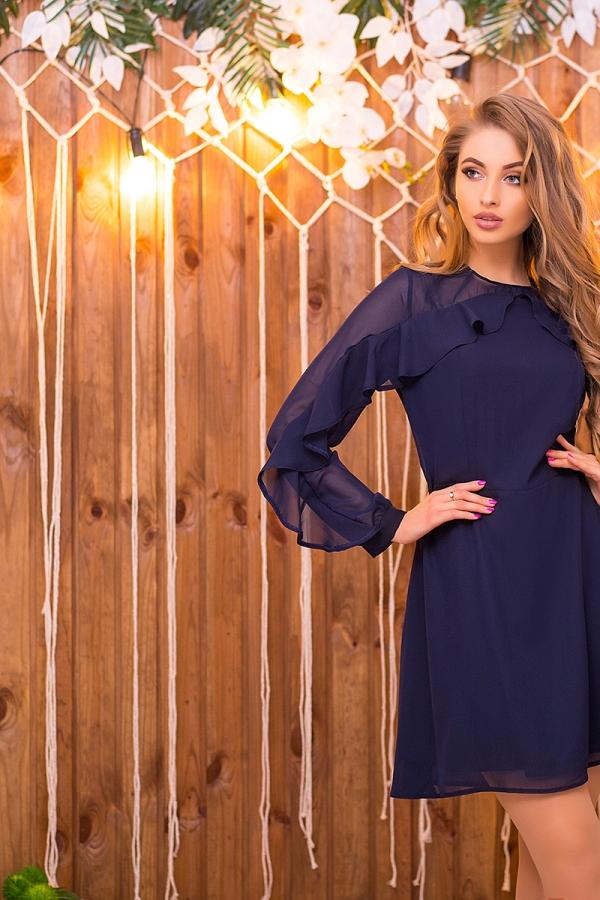 dark-blue-chiffon-dress-with-2-ruffles-full3