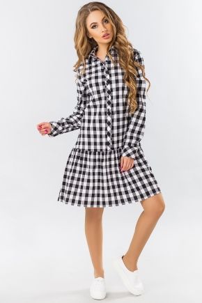 dress-shirt-frill-black-and-white-cage
