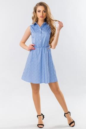 dress-shirt-sleeves-small-flower-blue