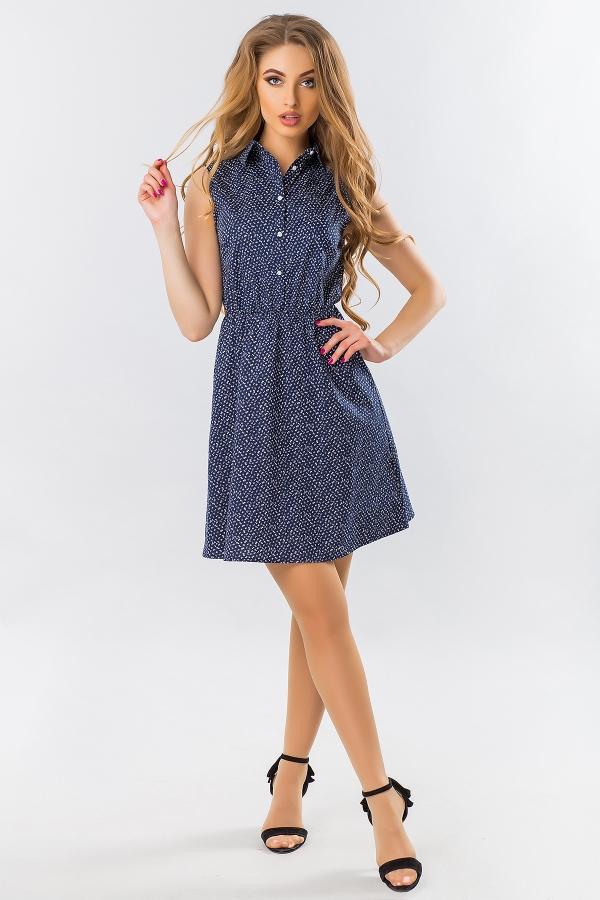 dress-shirt-sleeves-small-flower-dark-blue
