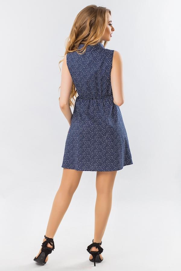 dress-shirt-sleeves-small-flower-dark-blue-back