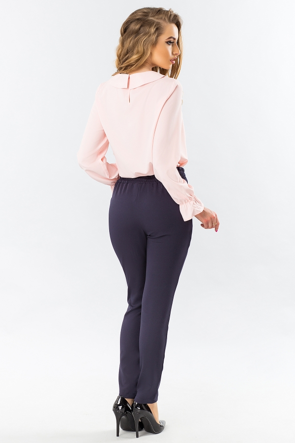 pink-blouse-round-collar-back