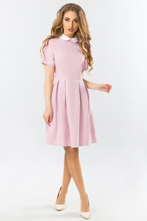 pink-dress-white-round-collar-warehouses