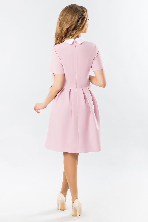 pink-dress-white-round-collar-warehouses-back
