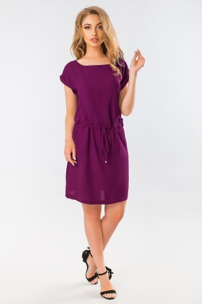 purple-summer-dress-with-a-cuff