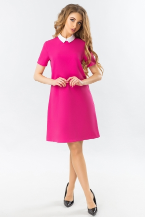 raspberry-dress-with-a-white-collar