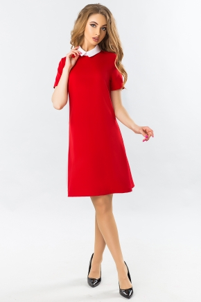 red-dress-with-white-collar