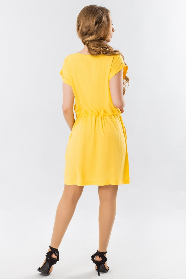 yellow-summer-dress-with-a-cuff-back