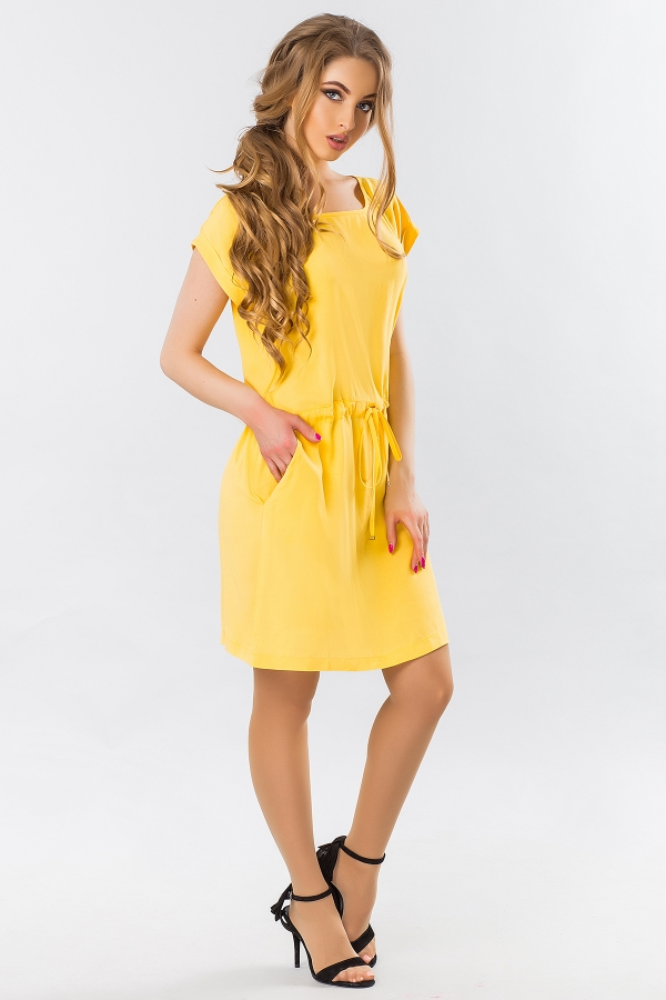 yellow-summer-dress-with-a-cuff-full