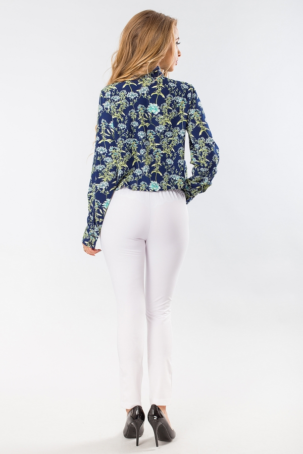 blouse-with-tie-flowers-dark-blue-back