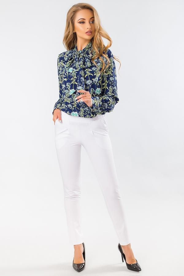 blouse-with-tie-flowers-dark-blue-full