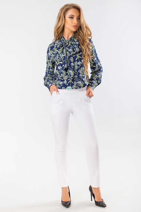 blouse-with-tie-flowers-dark-blue-full2