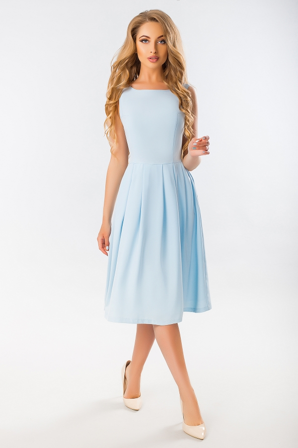 blue-dress-with-angular-relief