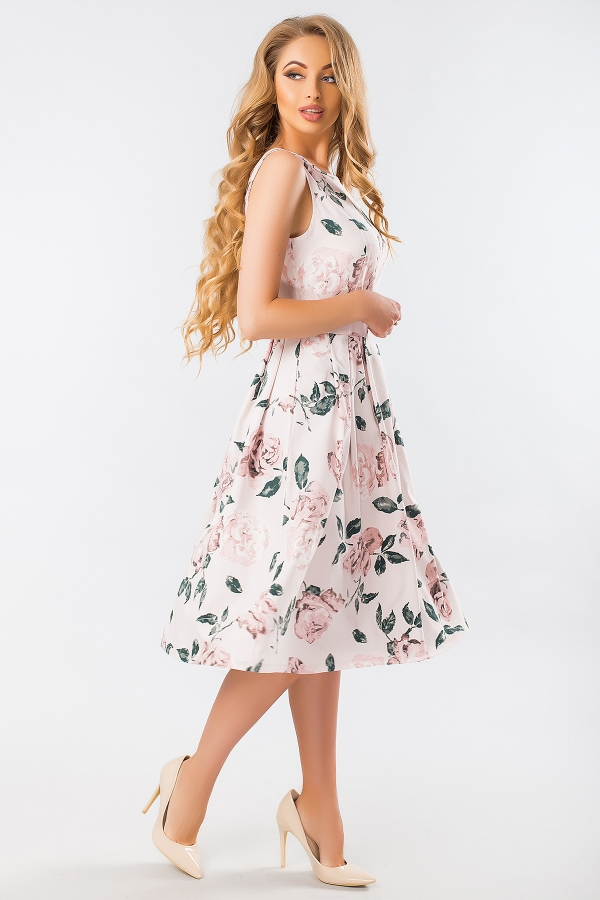 dress-with-flowers-sleeveless-half