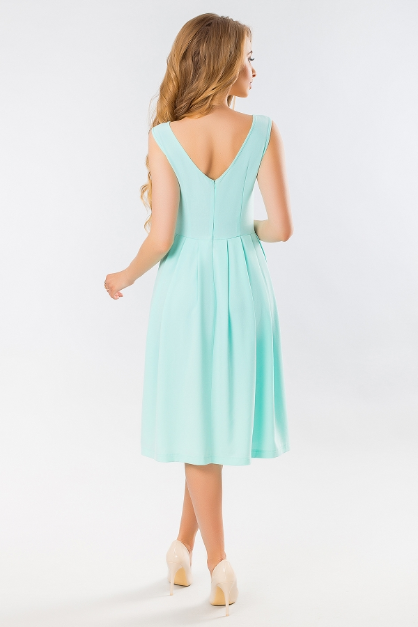 mint-dress-with-angular-relief-back
