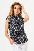 black-blouse-large-dots