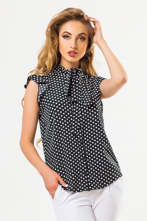 black-blouse-large-dots