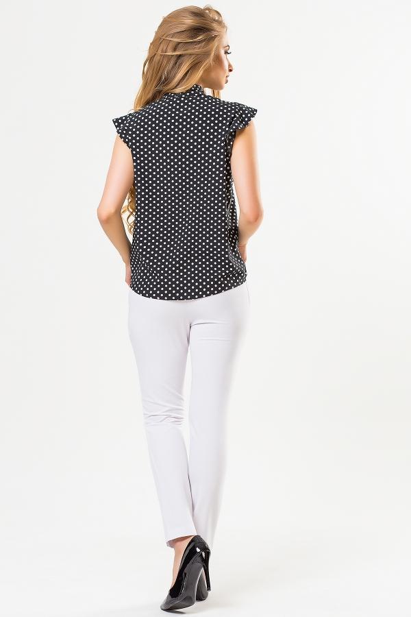 black-blouse-large-dots-back