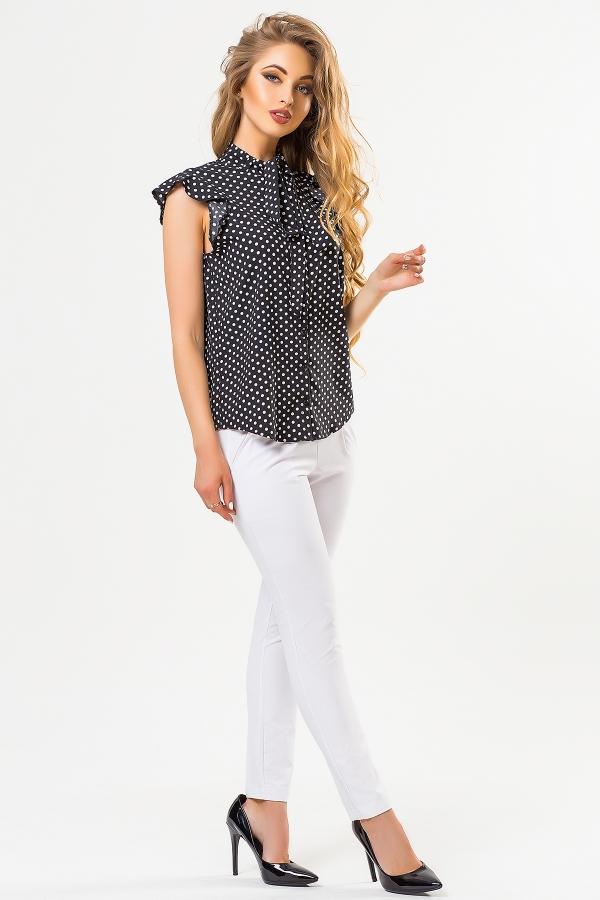 black-blouse-large-dots-half