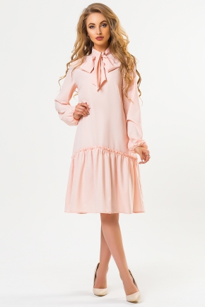 pink-dress-with-collar-ascot