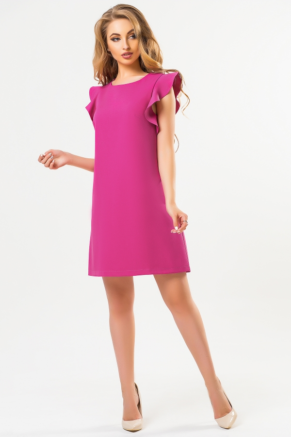raspberry-dress-with-flounces-shoulders-full