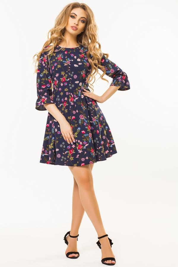 dark-blue-dress-floral-print