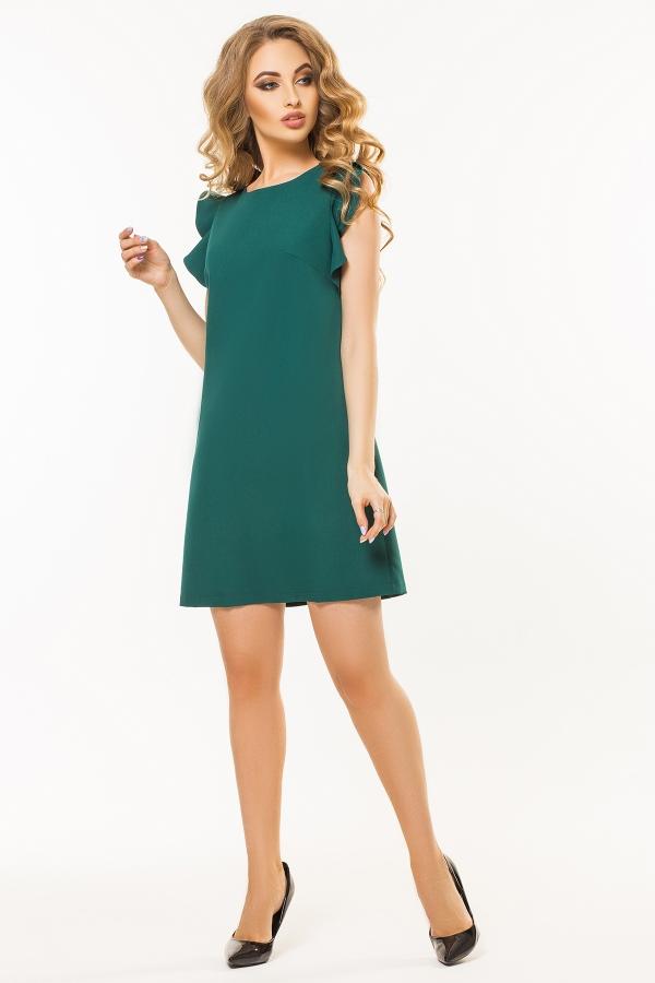 dark-green-dress-flounces-shoulders-full