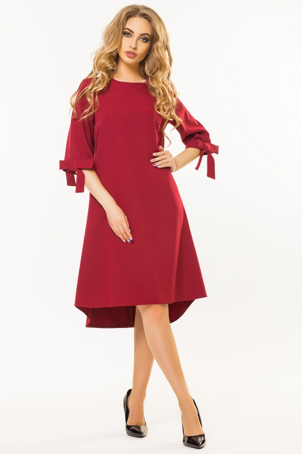 dark-red-dress-bows-sleeves