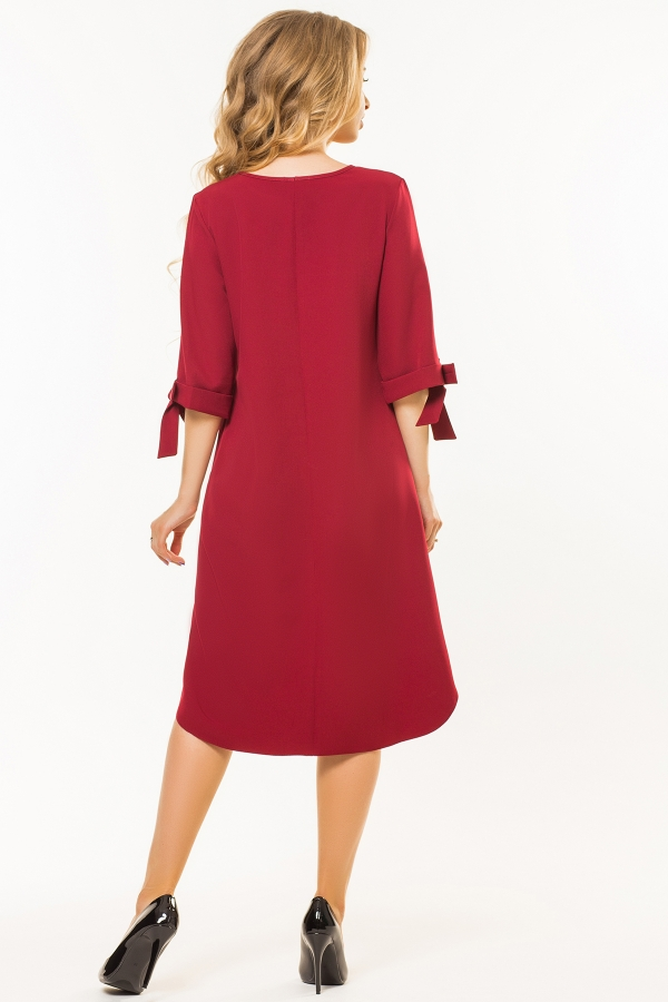 dark-red-dress-bows-sleeves-back