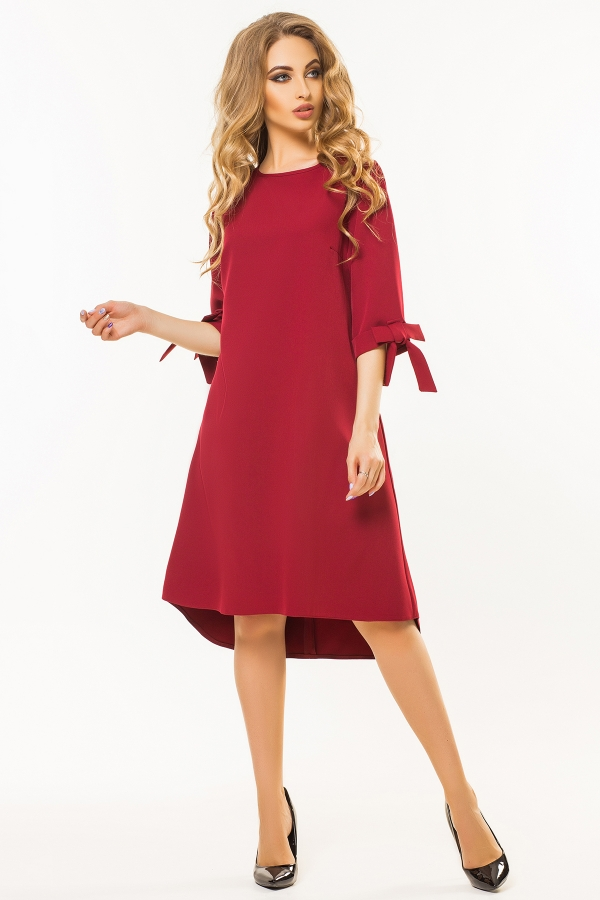 dark-red-dress-bows-sleeves-full