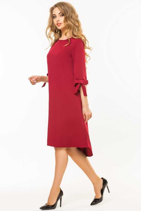 dark-red-dress-bows-sleeves-half