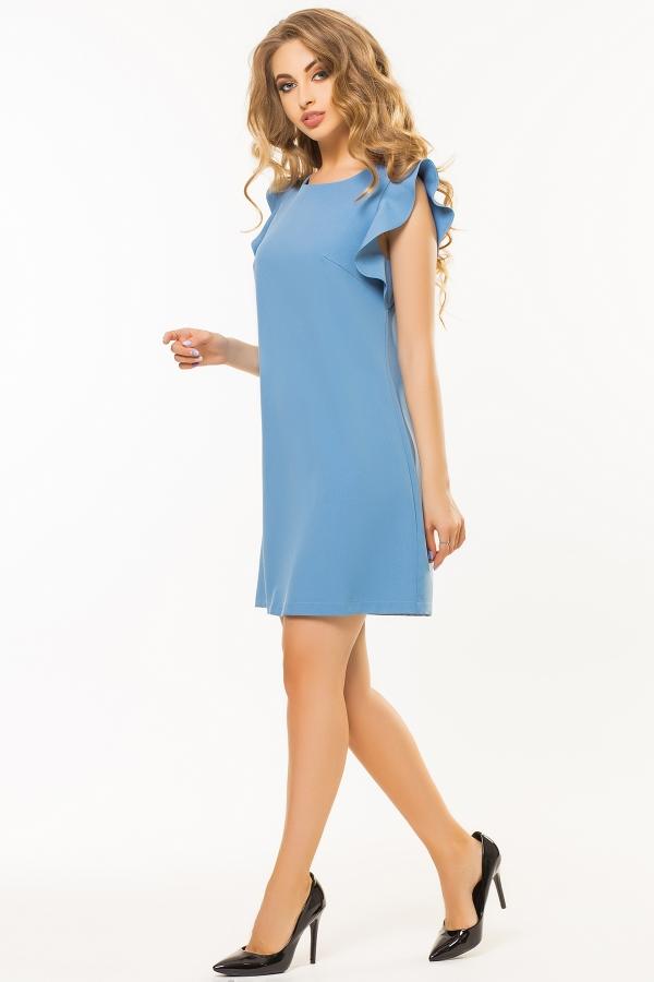 gray-blue-dress-flounces-shoulders-half