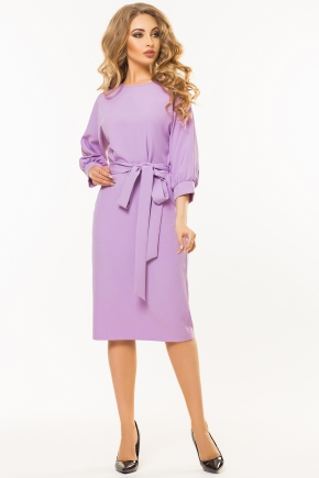 lilac-dress-belt-one-piece-sleeve
