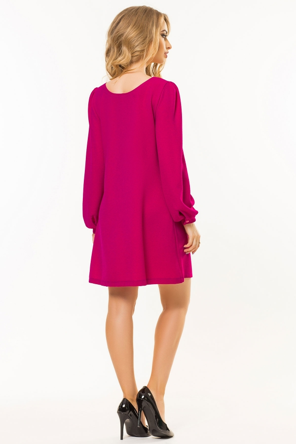 raspberry-dress-shoulder-straps-back