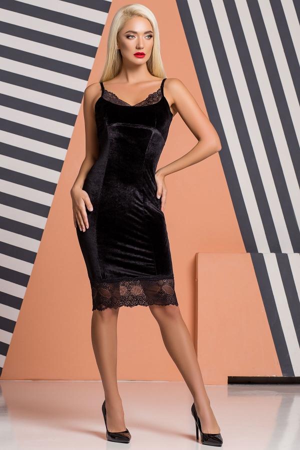 black-velor-dress-lace