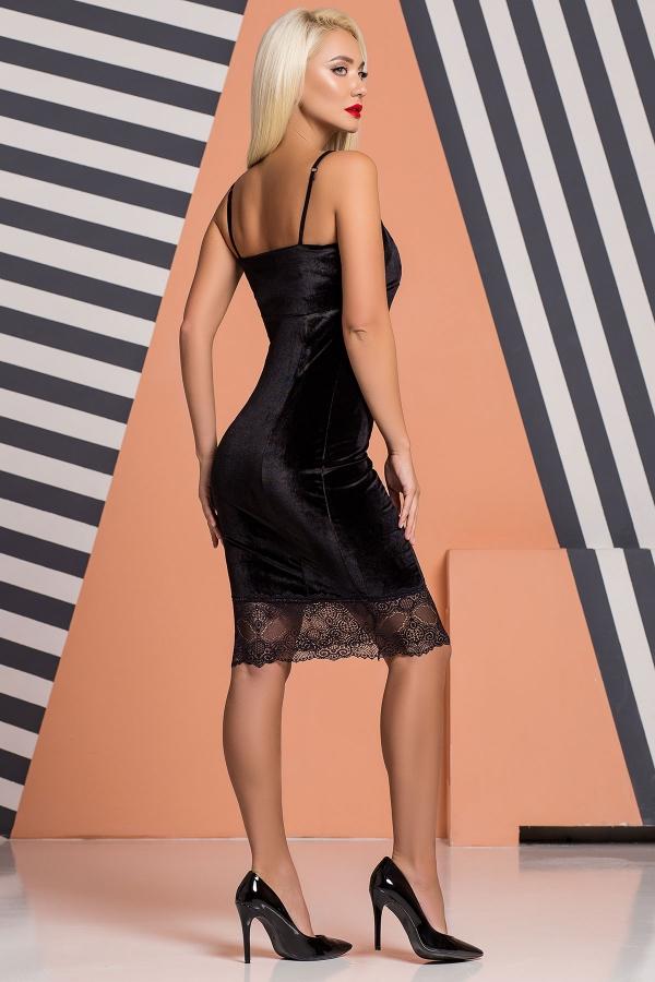 black-velor-dress-lace-back