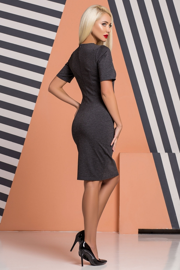 dark-gray-dress-pleat-chest-back