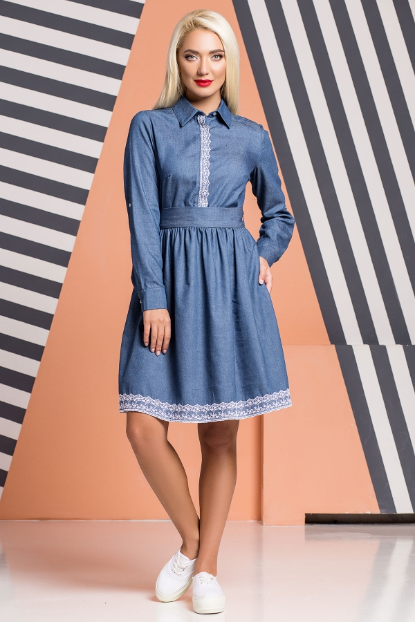 denim-dress-lace-trim
