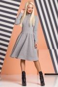 gray-dress-ruffles-golden-zipper