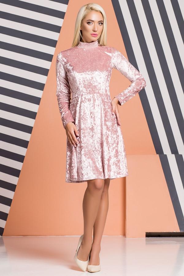 pink-velor-dress-under-throat