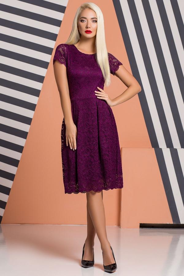plum-guipure-dress-pleats