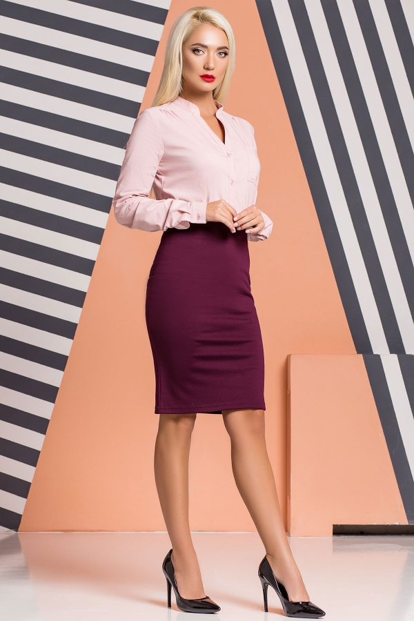 plum-pencil-skirt