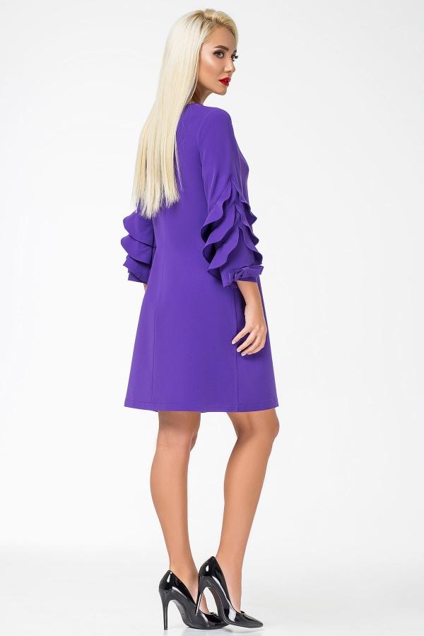 purple-dress-bows-frills-back