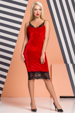 red-velor-dress-lace