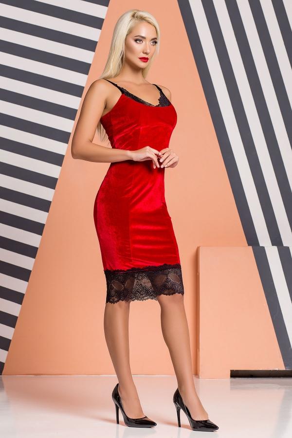 red-velor-dress-lace-half