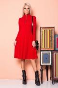 red-dress-ruffles-golden-zipper